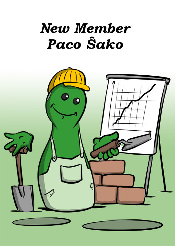NEW MEMBER PACO ŜAKO WITH A NEW GAME