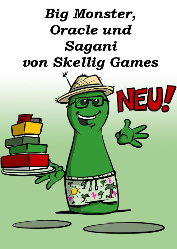 BIG MONSTER; ORACLE UND SAGANI NEU VON SKELLIG GAMES