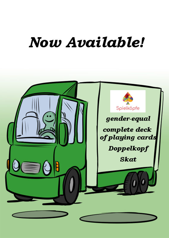 GENDER-EQUAL PLAYING CARDS FROM SPIELKÖPFE ARE AVAILABLE NOW