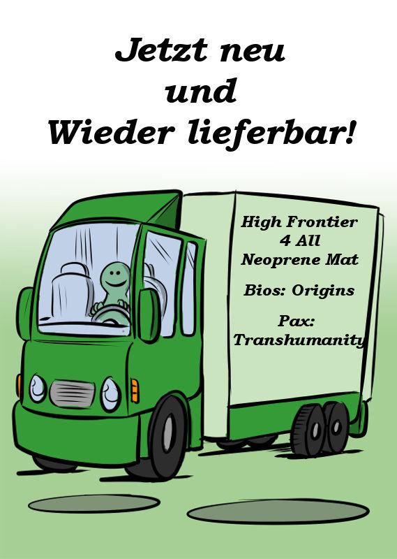 HIGH FRONTIER 4 ALL NEOPRENE MAT, BIOS: ORIGINS UND PAX: TRANSHUMANITY SIND LIEFERBAR