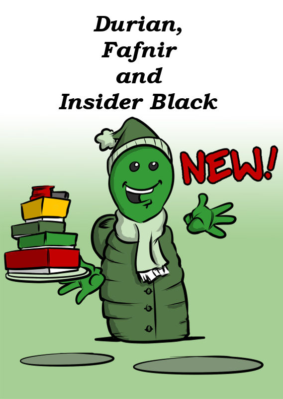 DURIAN, FAFNIR AND INSIDER BLACK NEW FROM OINK GAMES
