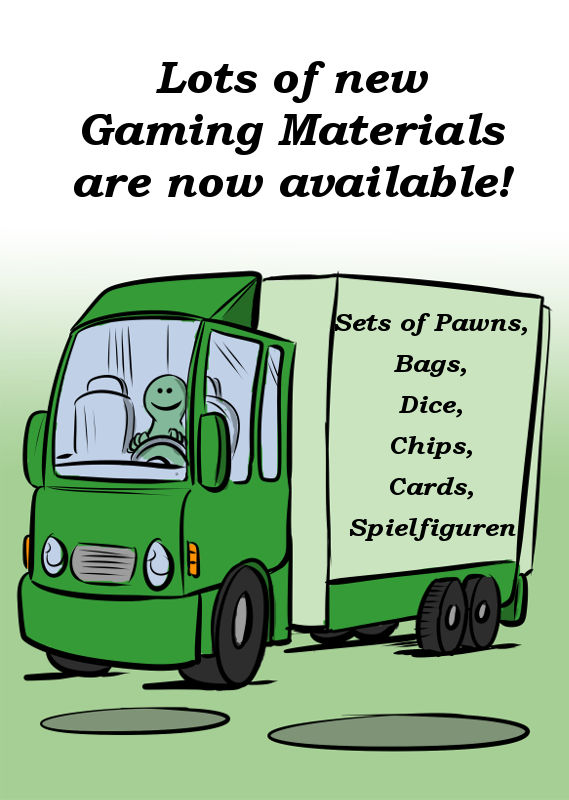 NEW GAME MATERIALS ARE NOW AVAILABLE