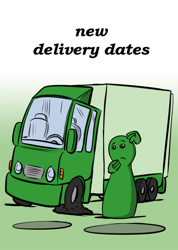 NEW DELIVERY DATES FOR SEVERAL GAMES